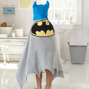 Grey and Blue Super Hero Bath Towel Wholesale