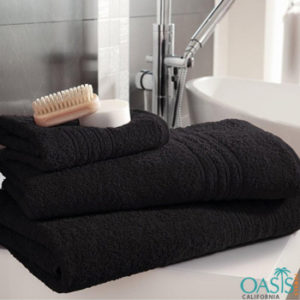 Wholesale Plush Rich Black Bath Towels