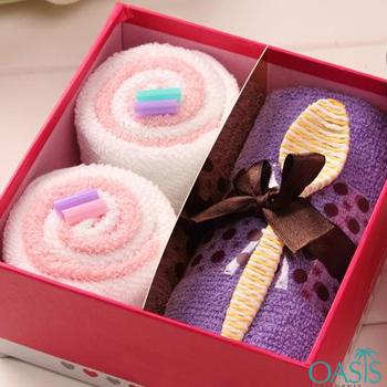 Wholesale Pink And Violet Luxury Towel Set Manufacturer