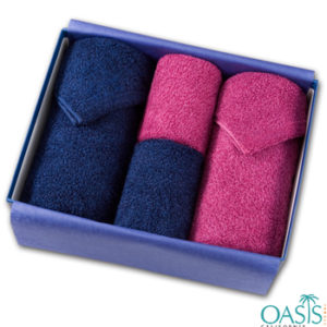 Wholesale Pink And Blue Luxury Towel Set