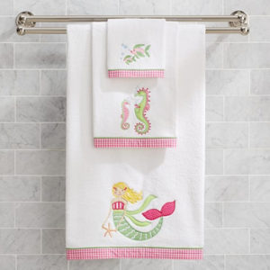 Wholesale Plain Color Block Soft Bath Towels