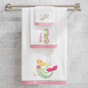 Wholesale Plain Color Block Soft Bath Towels