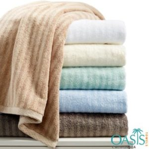 Premium Self-Striped Bath Towels Manufacturer