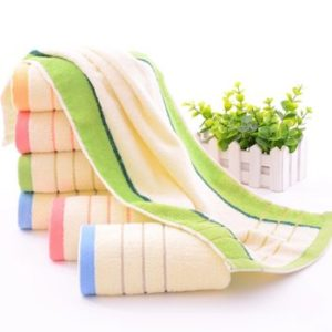 Colored Border Wholesale Microfiber Salon Towels