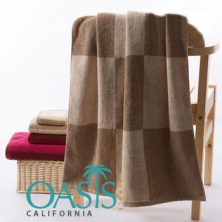 Wholesale Towels With Brown Beige Blocks