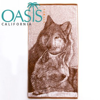 Manufacturer of Wholesale Towels with Wolf duo