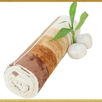 Wholesale White and Coffee Shaded Sublimation Towel Manufacturer