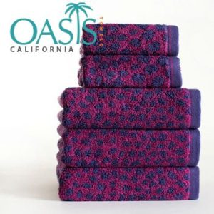 Fuchsia and Abstract Aubergine Towels Wholesale Manufacturer