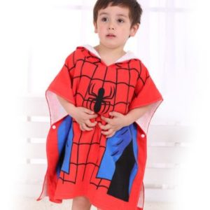 Wholesale Spiderman Hooded Kids Bath Wrap Towels Manufacturers