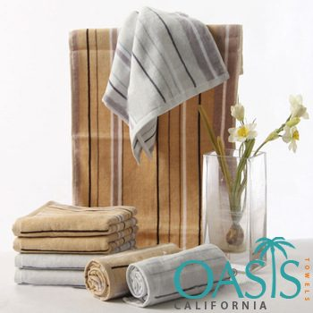 Wholesale Light Base and Striped Towels Manufacturer