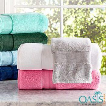 Wholesale Soft Textured Color Block Bath Towel Set Manufacturer