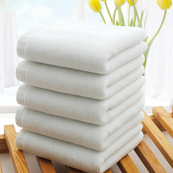 Soft Absorbent White Organic Bamboo Cotton Towels Manufacturer