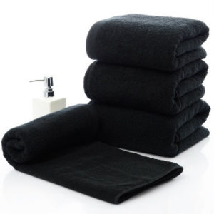 Wholesale Black Large Microfibre Bath Towels Manufacturer