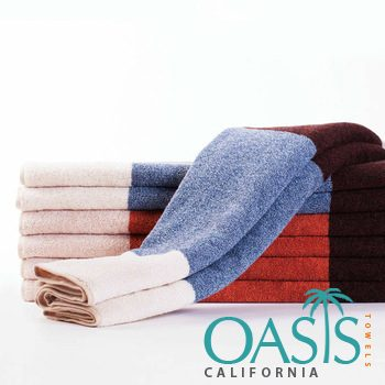 Color Block Hand Towels Wholesale Manufacturer