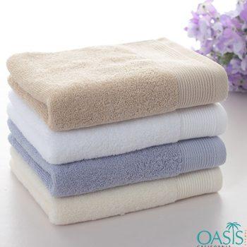 Wholesale Soft Tinge Color Block Hotel Towels Manufacturer