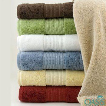 Wholesale High Quality Color Block Hotel Towels Manufacturer