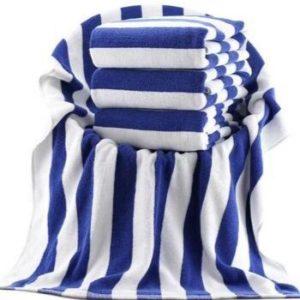 Wholesale Blue and White Plush Bath Towel