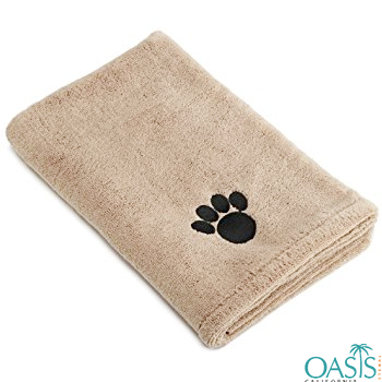 Wholesale Honey Brown Teddy Paw Pint Custom Towel Manufacturer