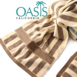 Wholesale Classic Brown and Beige Striped Towels