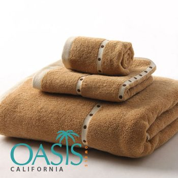 Wholesale Soft Brown Dotted Towels Manufacturer