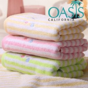Wholesale Powder Hued Candy Striped Towels Manufacturer