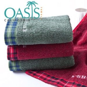 Wholesale Checked Border Towels Manufacturer