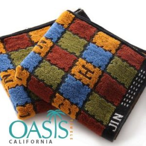 Wholesale Initials Chromatic Blocked Towels Manufacturer