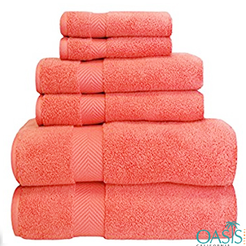 Wholesale Radiant Red Custom Towels