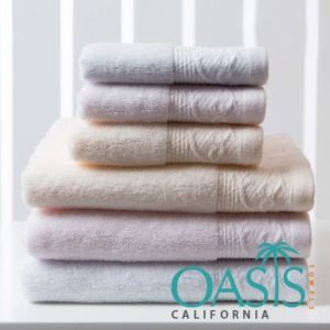 Wholesale Powder Hued Designer Bordered Towels Manufacturer