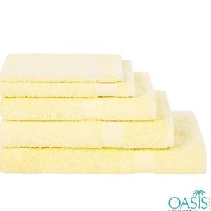 Wholesale Rich Pollen Yellow Custom Towels