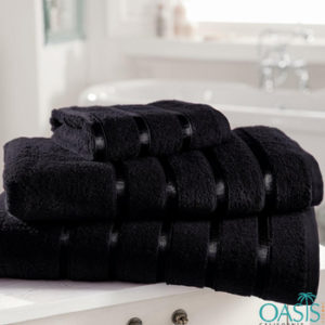 Wholesale Pitch Black Egyptian Towels Manufacturer