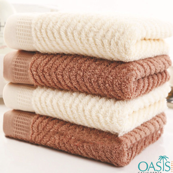 Wholesale Brown And Off-White Egyptian Towel Set
