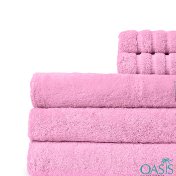 Wholesale Pink Blossom Custom Towels Manufacturer