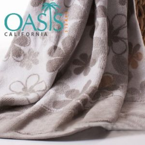 Floral Cream Based Towels Wholesale Manufacturer
