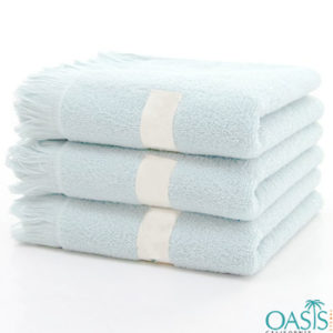 Wholesale Frosty Blue Custom Towels Manufacturer