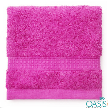 Wholesale Fruit Punch Pink Custom Towel Manufacturer