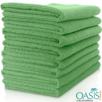 Wholesale Green Microfiber Towels Manufacturer