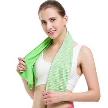 Wholesale Neon Green Sports Cooling Towels