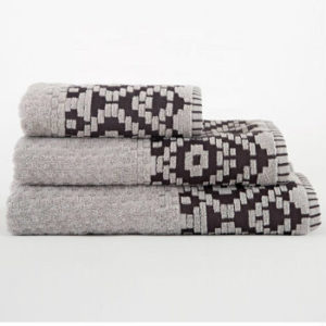 Wholesale Luxury Cool Grey Patterned Cotton Turkish Towels Manufacturer
