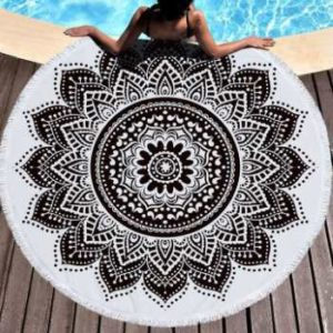 Wholesale Grey and White Subtle Beach Towels Manufacturers