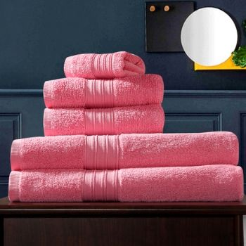 Wholesale Bougainvillea Pink Custom Towel Set of 5