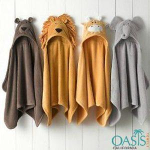 Wholesale Fun Animal Motif Hooded Bath Towels Manufacturer