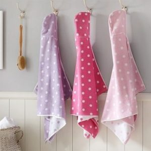 Wholesale Pastel Hue Polka Dot Hooded Bath Towel Manufacturer