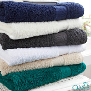 Wholesale Contemporary Color Block Hotel Towels Manufacturer