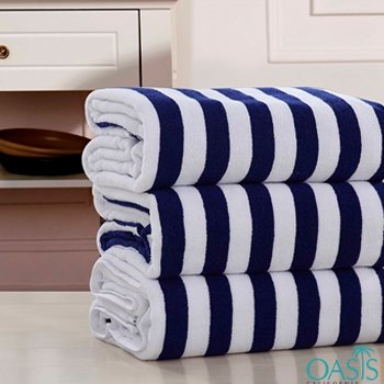 Wholesale Bold Black and White Stripe Hotel Towels Manufacturer