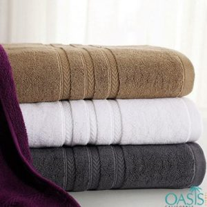 Wholesale Cool Swag Color Block Hotel Towels Manufacturer
