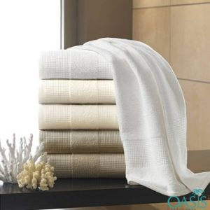 Wholesale Pin Grain Designer Hotel Towels Manufacturer