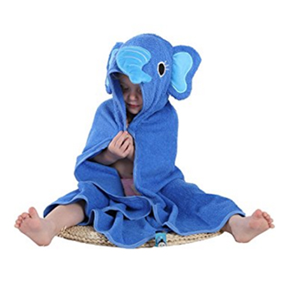 Wholesale Elephant Hooded Blue Bathrobe Manufacturer for Kids