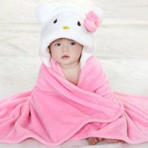 Wholesale Pink Princess Hooded Bath Towel Manufacturers