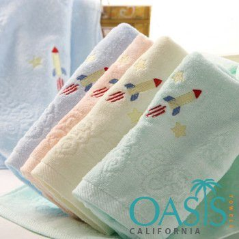 Self Embossed with Rocket Wholesale Towels Manufacturer